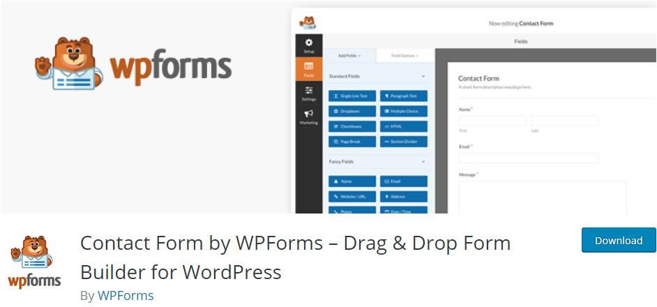 افزونه فرم ساز وردپرس Wpforms