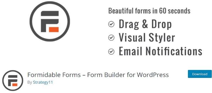 4- افزونه فرم ساز وردپرس Formidable Forms