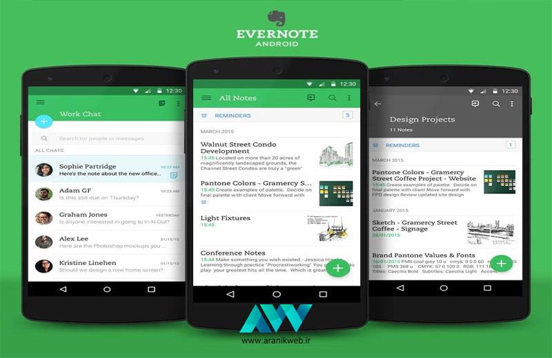 آموزش تولید محتوا با موبایل Evernote