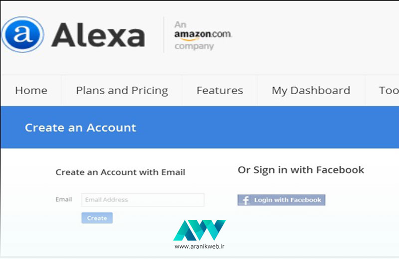 ثبت سایت در الکسا با کمک فیسبوک
