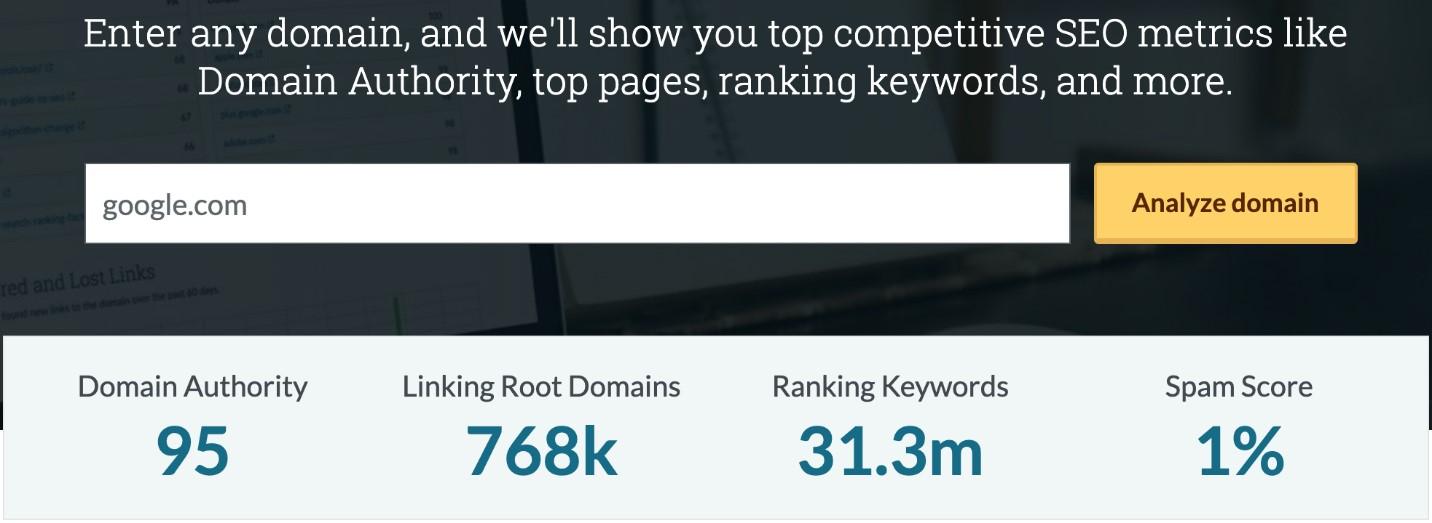 نحوه بررسی Domain Authority وب سایت ها