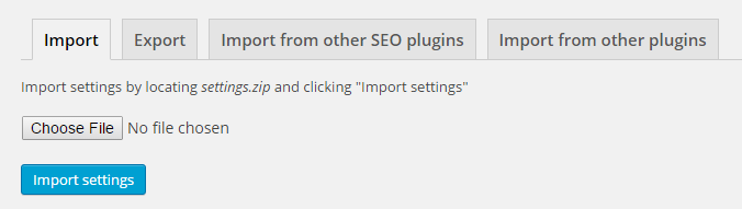 Import from other plugins SEO