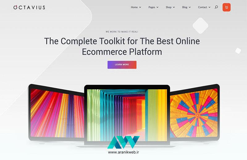 قالب سایت فروشگاهی Octavius بهترین قالبهای فروشگاهی وردپرس