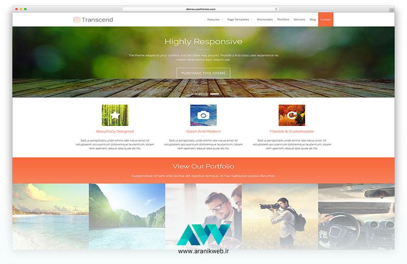قالب های طراحی سایت برای وردپرس