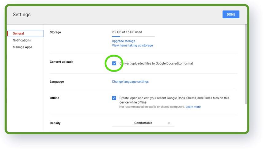 نحوه آپلود کردن فایل های نرم افزار های صفحه گسترده به گوگل شیت