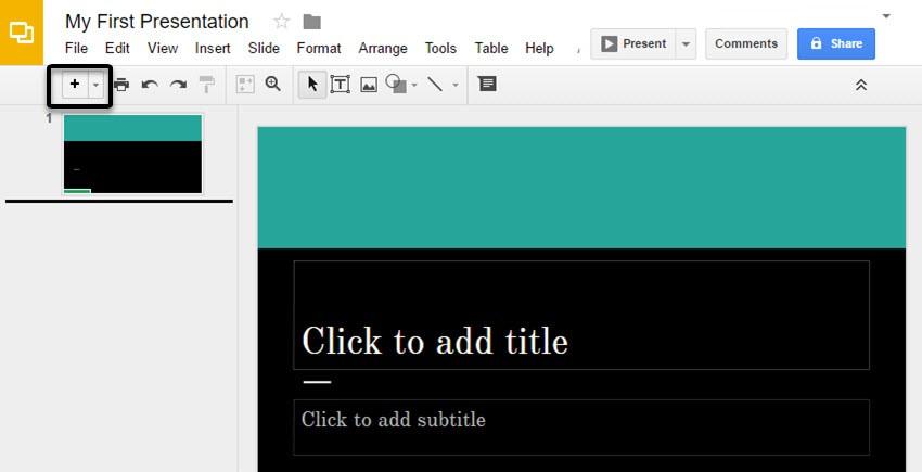 گزینه edit / آموزش کار با گوگل اسلاید google slide مقدماتی