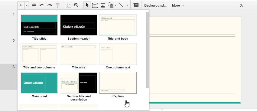 قدم پنجم : بارگذاری اطلاعات در گوگل اسلاید