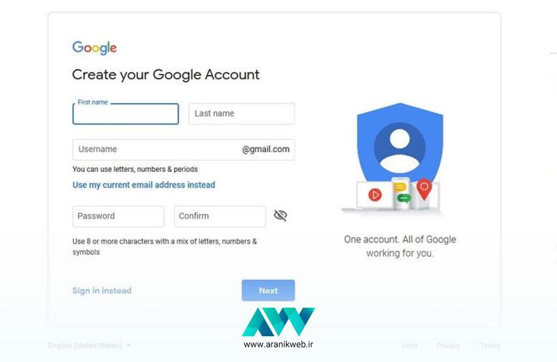 آموزش کار با گوگل داک Google Docs چگونه است؟ / حساب کاربری در گوگل