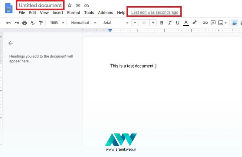 شروع کار با گوگل داک / آموزش گوگل داک Google Docs مقدماتی
